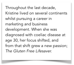 About Kristine Ofstad - The Gluten Free Lifesaver