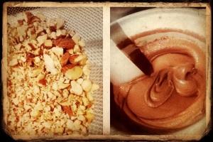 Mixing Chocolate Gelato