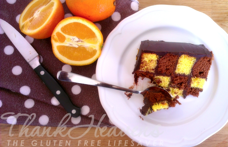 Easy-to-make Checkerboard Cake by The Gluten Free Lifesaver