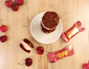 Cherry Ripe Ice Cream Sandwiches