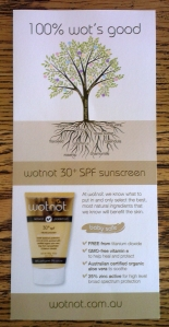 Reviewing WOTNOT sunscreen