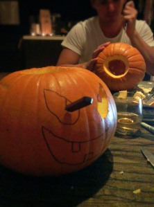 Pumpkin Carving on Halloween