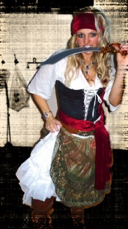 All kitted out as a Pirate for Halloween.. Scary?