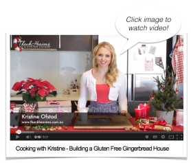 Cooking with Kristine - Making a Gluten Free Gingerbread House