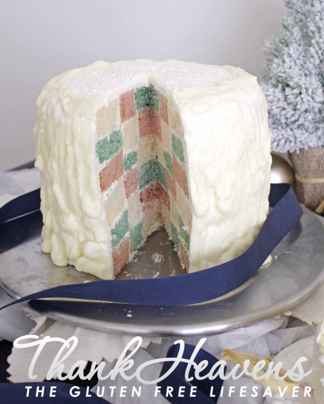 Winter Checkerboard Cake