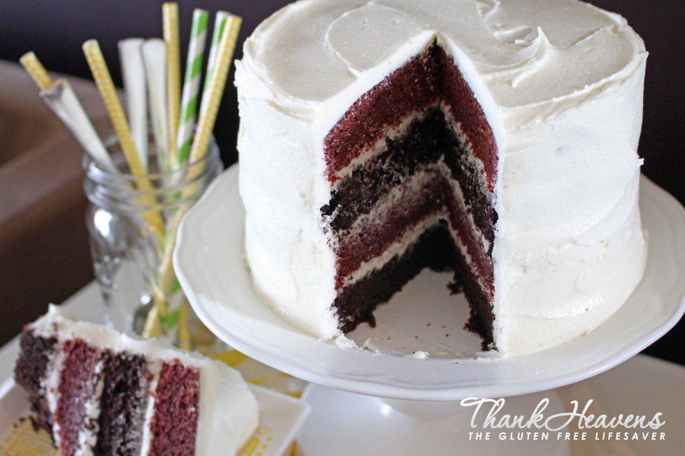 red velvet chocolate mud cake bonanza: gluten-free