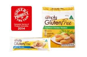Coles Simply Gluten Free award winning range