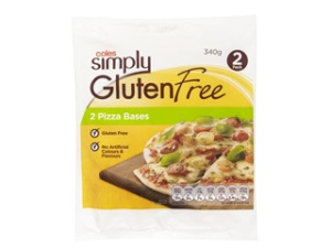 Coles Simply Gluten Free Pizza Bases