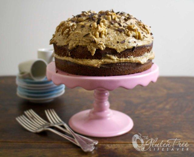 Gluten-Free English Coffee & Walnut Cake