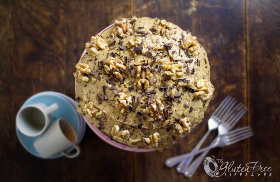 English Coffee and Walnut Cake