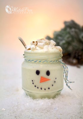 Frosty The Snowman Christmas Smoothie - Tasty Treat With Incredible Nutritional Benefits #glutenfree #smoothie #dairyfree #health #fitness #christmas