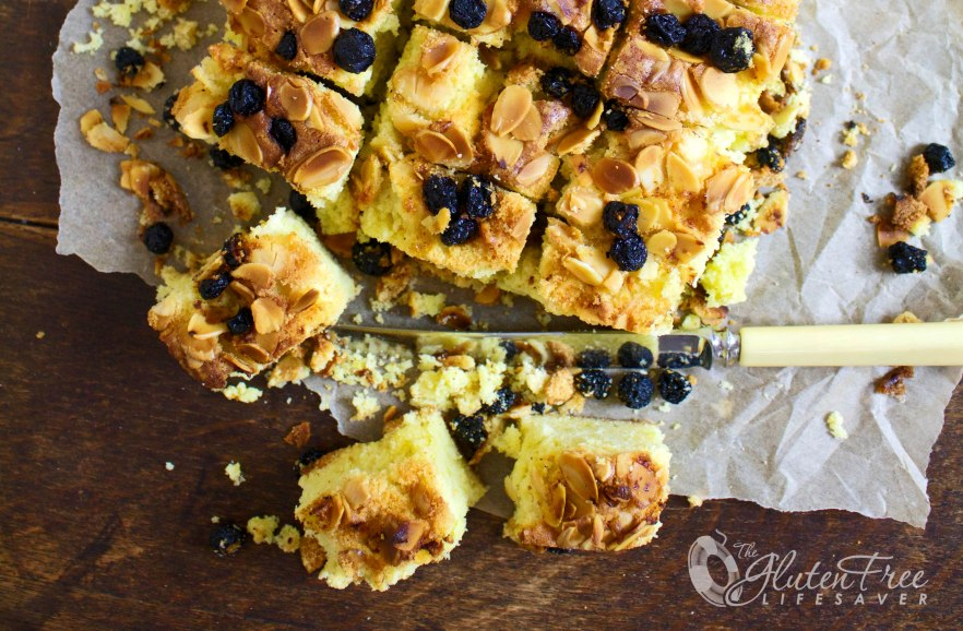 """Norwegian Christmas Cake """"Mor Monsen"""" -wonderfully eggy with light citrus flavours, almonds and dried blueberries #glutenfree #dairyfree #protein #cake #christmas"""