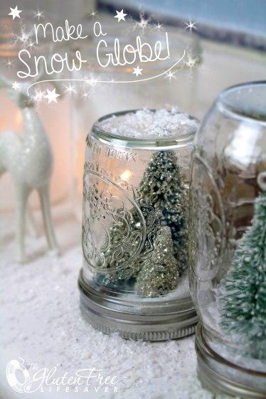 How to make a gorgeous Snow Globe! #diy #craft #christmas #winter #snow