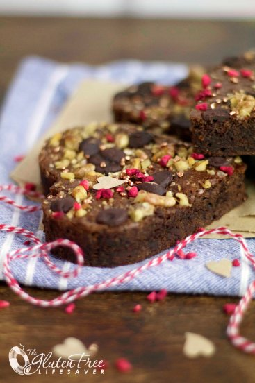 The Best Ever Paleo Brownies; a Perfectly Fudgy Valentines' Treat!