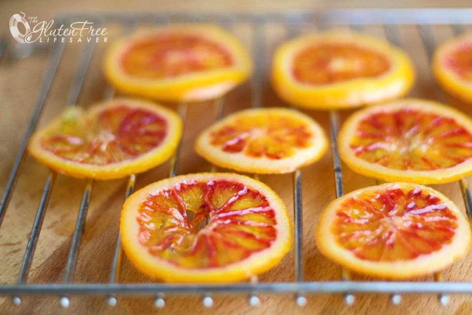 Pink Blood Orange Syrup with Grand Marnier & Sweet Twisted Orange Slices
