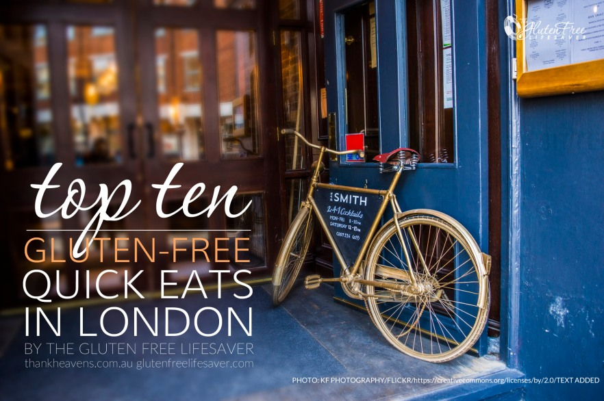 Top 10 best gluten-free places to eat quick in London!
