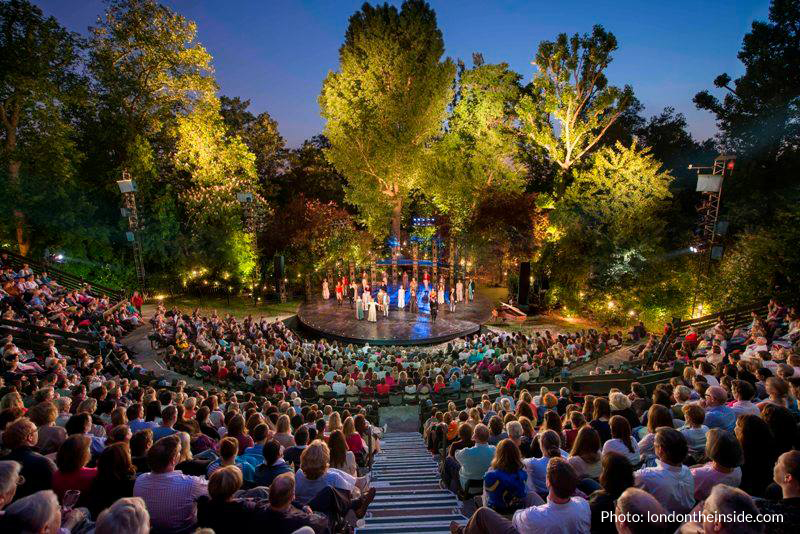 Gluten-free theatre in Regents Park