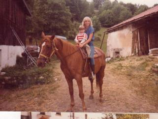 Auntie and I, horseback in France <3