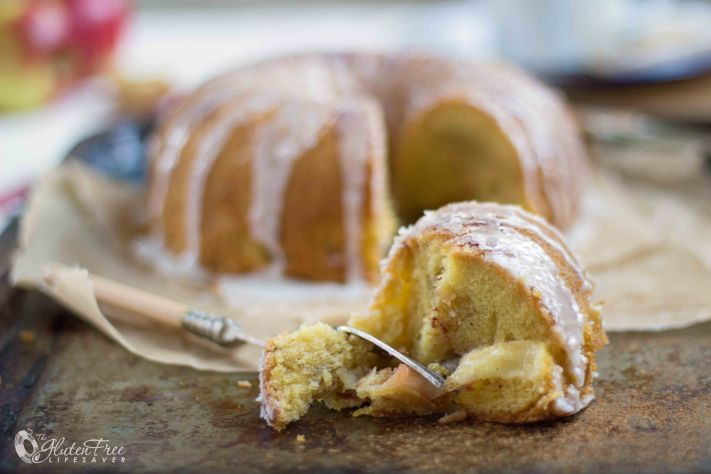 Moist and delicious gluten-free dairy-free Scandinavian apple cake recipe
