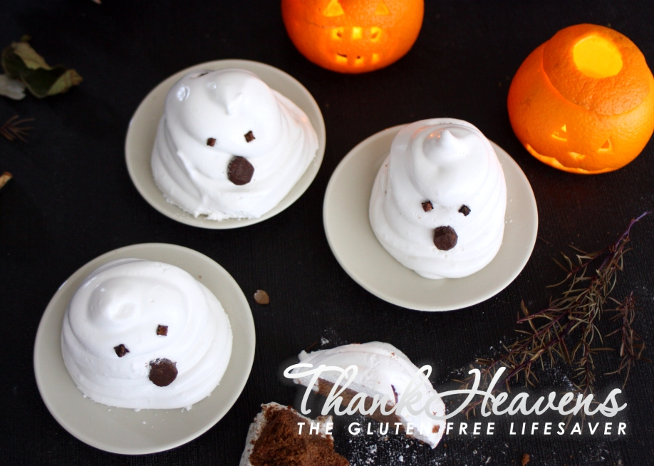 Super spooky and very yummy Muffin Marshmallow Ghosts for kids with food allergies! Easy to make, super tasty, and very scary indeed ;) #glutenfree #dairyfree #lowfodmap #failsafe #allergenfree #celiac #coeliac #nutfree #eggfree #halloween