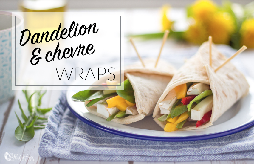 Divine Dandelion, Mango & Chevre Wraps #vegetarian #glutenfree #lunch #summer