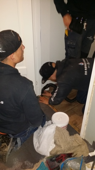 Our lovely plumbers at work